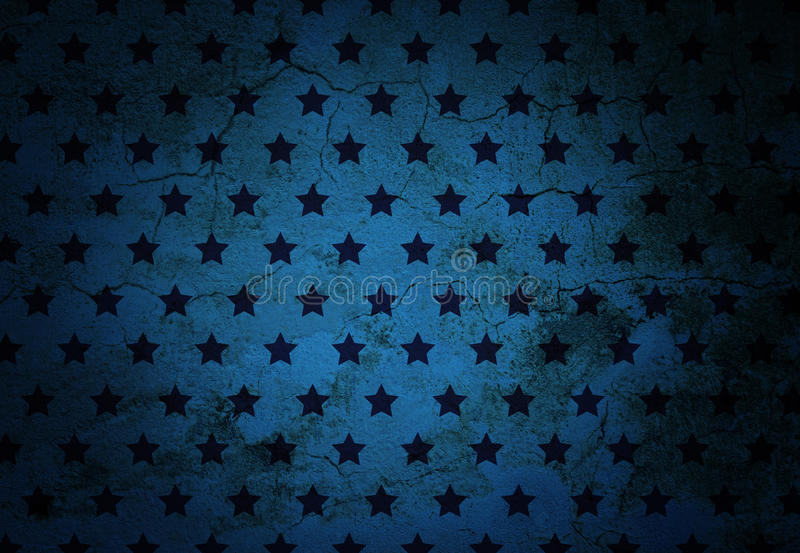 Cracked wall texture with black stars. Cracked dark blue wall texture with little black stars vector illustration