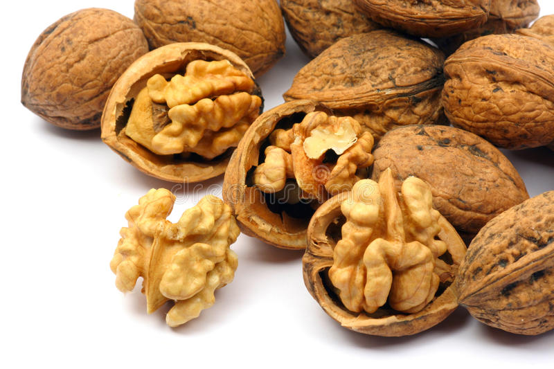 Download Cracked Walnut Cores Stock Photos - Image: 10303343