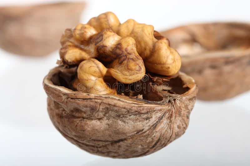 Download Cracked Walnut On Neutral Background Stock Photos - Image: 17084853