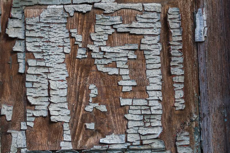 Cracked weathered blue painted wooden board texture stock photos