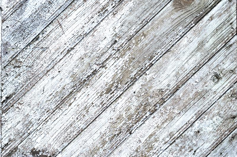 Cracked weathered gray shabby chic painted wooden board texture, front view stock images