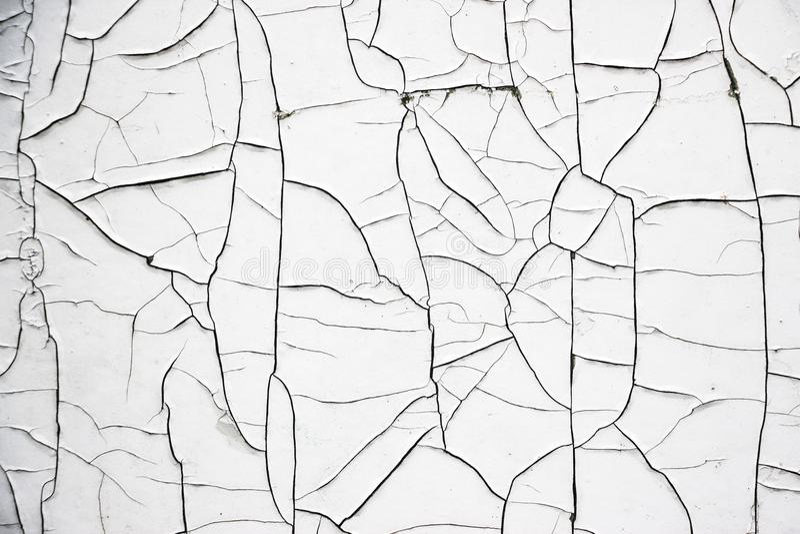Cracked White Paint royalty free stock photos