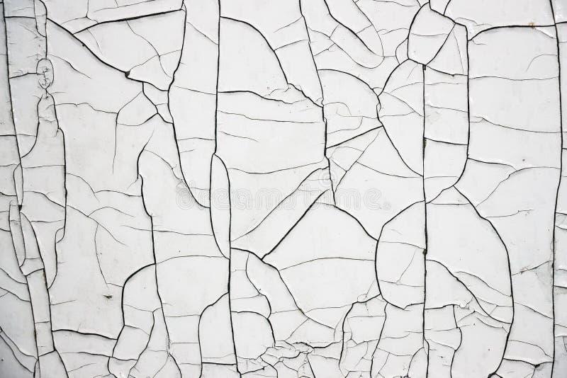 Cracked White Paint stock photo