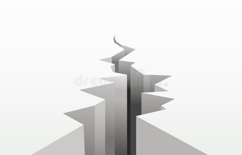 Download The cracked white surface stock vector. Illustration of danger - 13555005