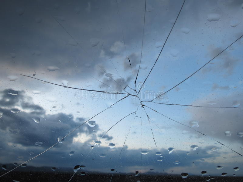 Cracked Windshield stock photography