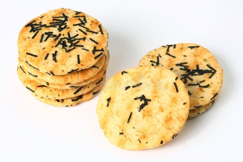 Cracker del riso fotografie stock