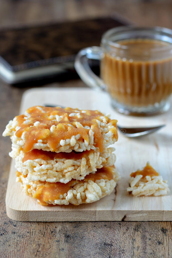 Cracker del riso immagine stock