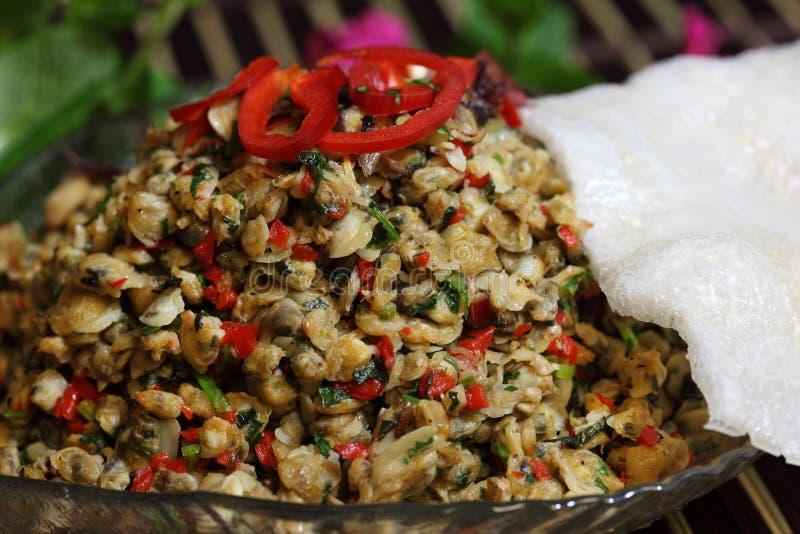 Cracker del riso e del mollusco immagine stock