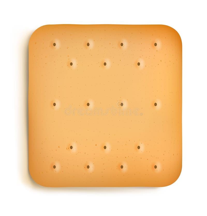 Cracker die op witte achtergrond wordt geïsoleerdg stock illustratie