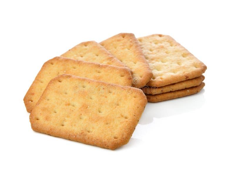 Cracker die op witte achtergrond wordt geïsoleerdg royalty-vrije stock foto