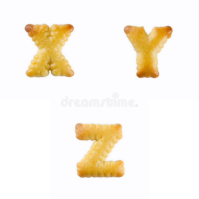 Cracker in Form von dem Alphabet: U-W lizenzfreies stockfoto
