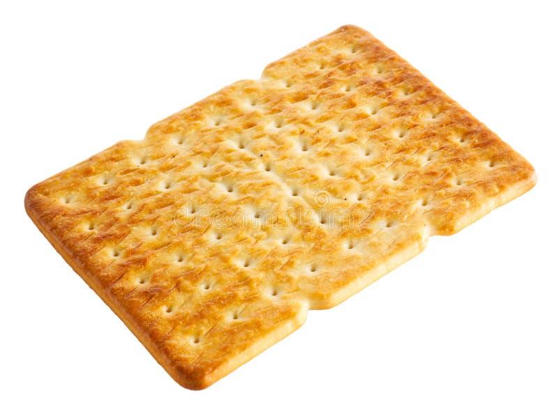 Cracker (koekje, koekjes, gebakje) op wit wordt geïsoleerd dat stock afbeelding