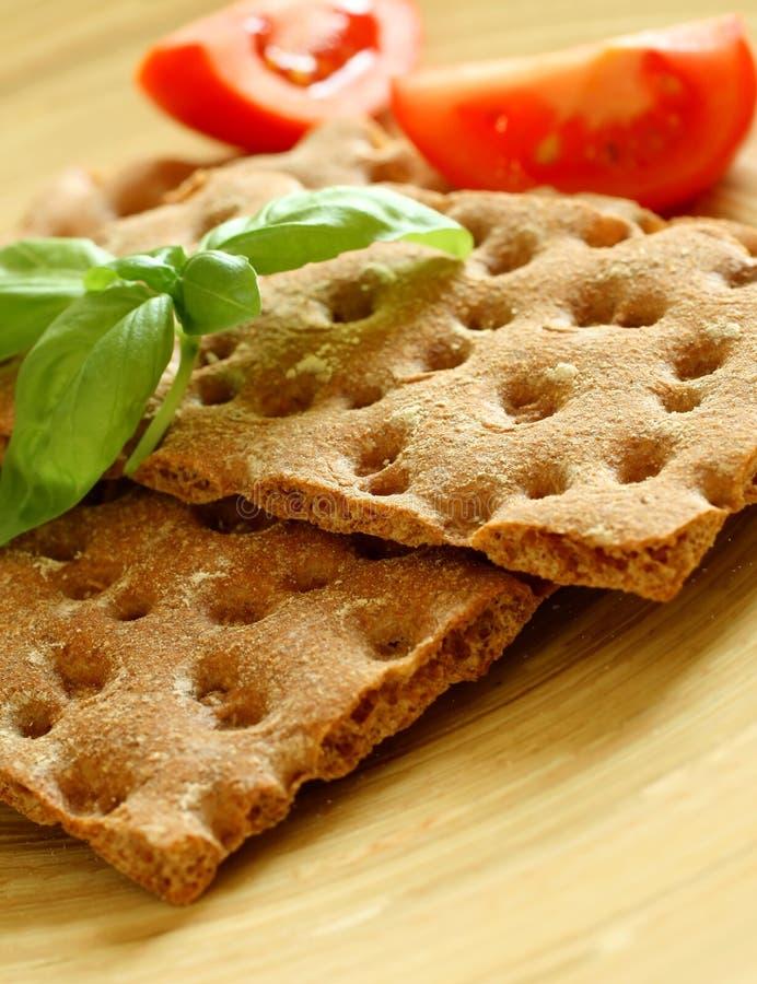 Cracker, prima colazione di dieta immagine stock