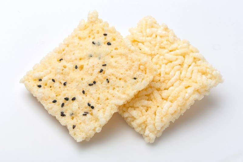 Cracker tailandese del riso fotografie stock