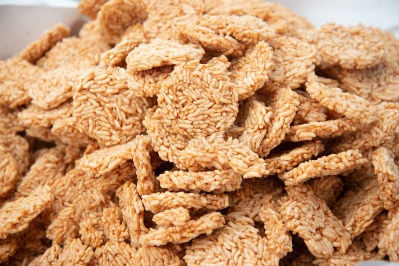 Cracker tailandese del riso fotografie stock libere da diritti