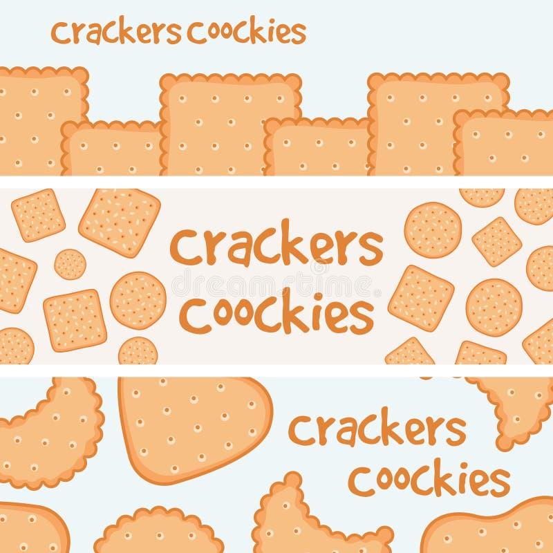 Cracker- und Keksfahnenschablone stock abbildung