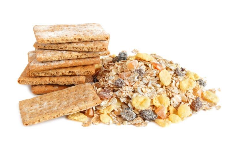 Cracker und muesli lizenzfreies stockfoto