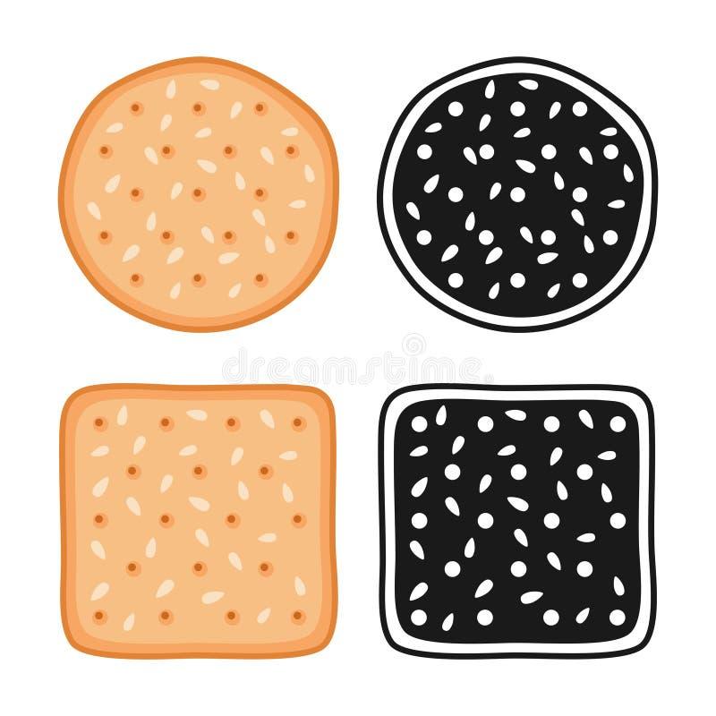 Crackerplätzchen mit Samen lizenzfreie abbildung