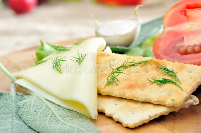 Download Crackers and cheese stock image. Image of fork, biscuit - 11190193
