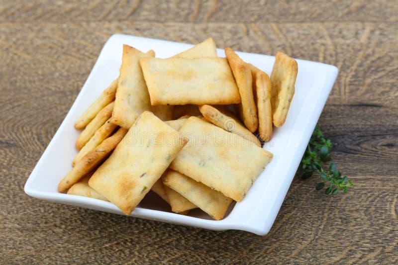 Crackers in de kom royalty-vrije stock foto