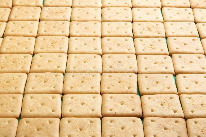 Crackers gevoerde rijen, mening van hierboven royalty-vrije stock afbeelding