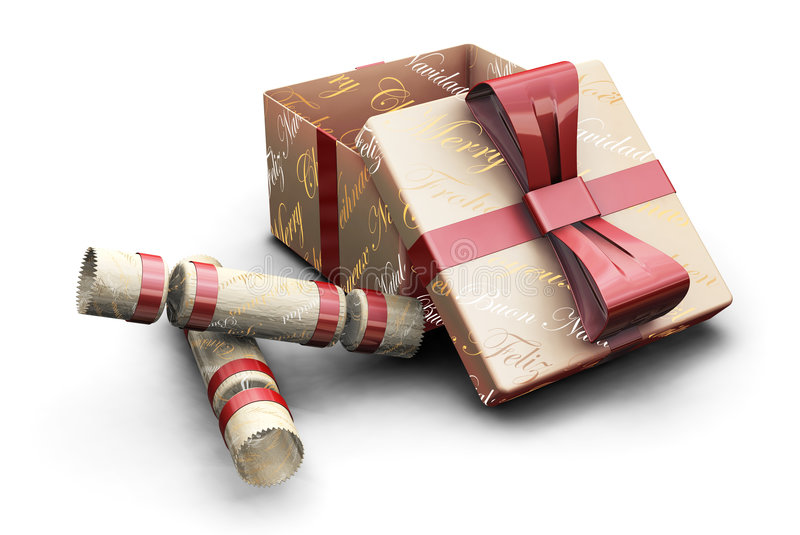Crackers and gifts royalty free illustration