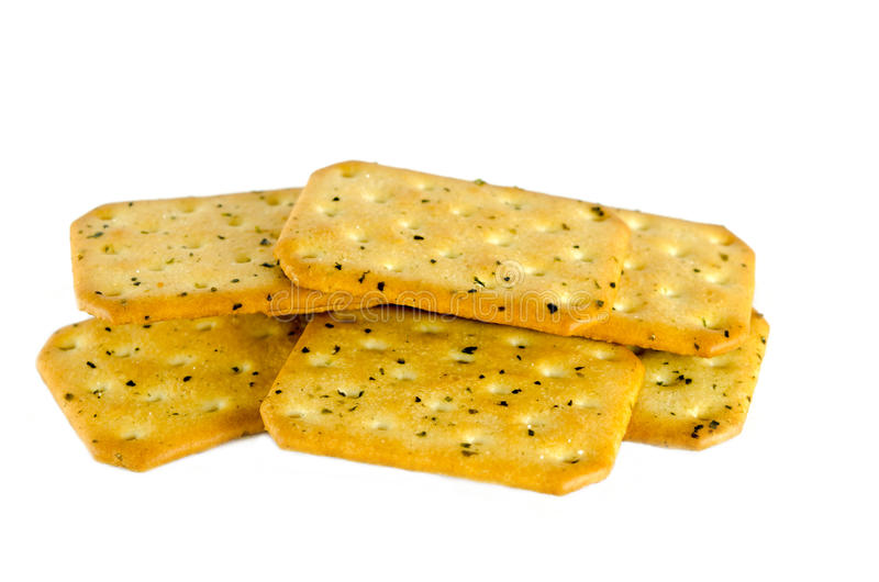 Crackers. Isolated on the white background stock photo