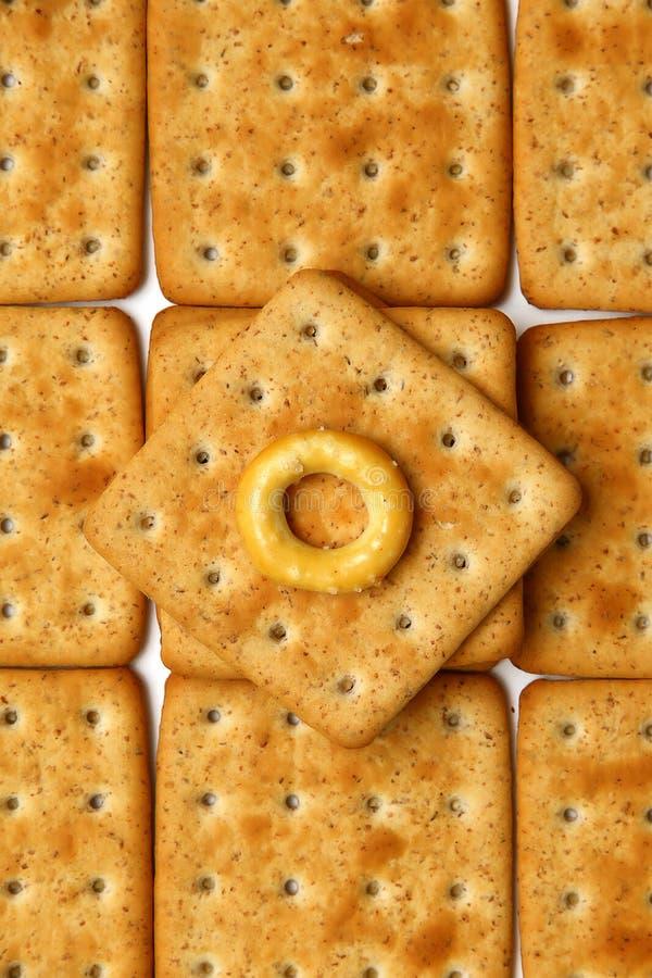 Crackers met zemelen royalty-vrije stock afbeelding