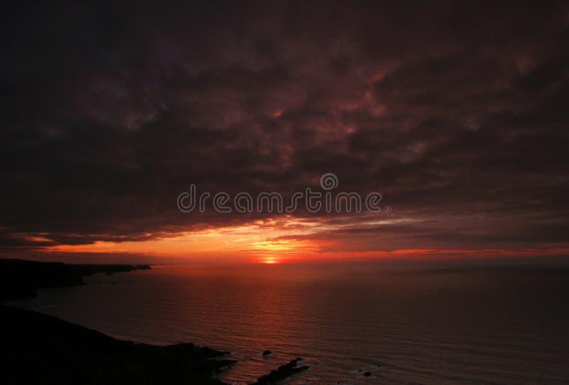 crackington nr ηλιοβασίλεμα που εμ& στοκ εικόνα με δικαίωμα ελεύθερης χρήσης