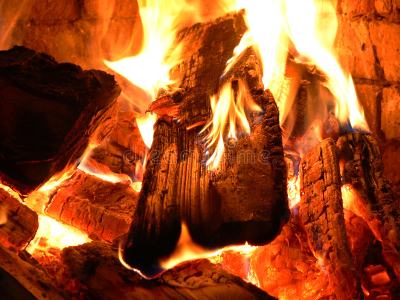 Download Crackling Of A Fire Royalty Free Stock Images - Image: 2415499