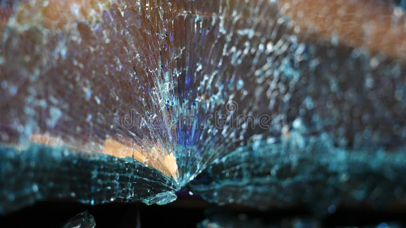 Cracks of the car glass royalty free stock image