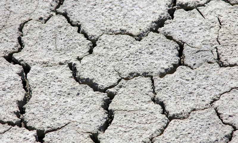 Cracks on earth stock image