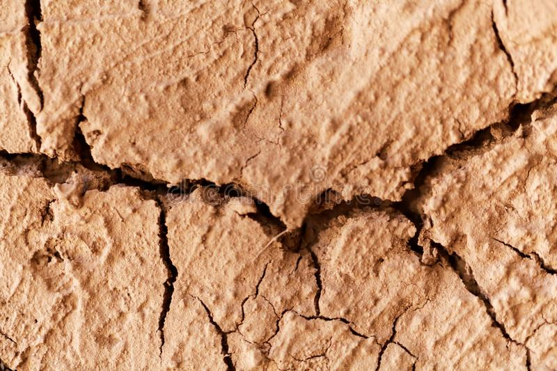 Cracks in old mud mortar. royalty free stock photography
