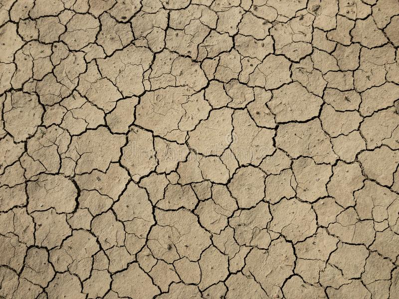 Soil cracks, fractures and thirst. Cracks on the soil and inefficiency stock images