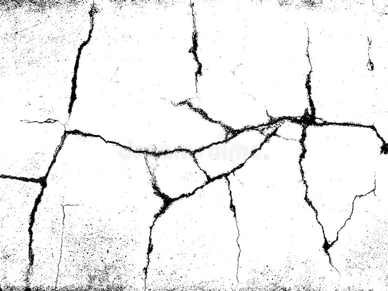 Cracks texture overlay. Vector background. Cracks texture overlay. Dry cracked ground texture. Cracked concrete wall texture. Abstract grunge white and black royalty free illustration