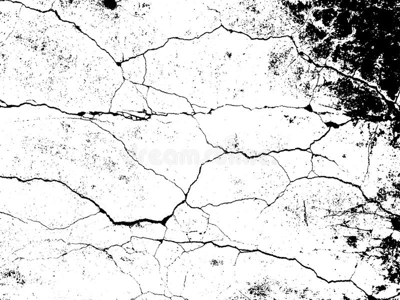 Cracks texture overlay. Vector background. Cracks texture overlay. Dry cracked ground texture. Cracked concrete wall texture. Abstract grunge white and black vector illustration