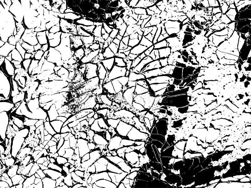 Cracks texture overlay. Vector background stock illustration