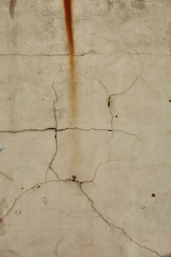 Cracks In Wall stock image