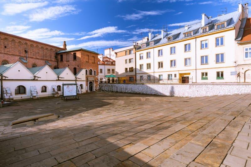 cracovia Il mercato di vecchio distretto ebreo di Kazimierz fotografia stock