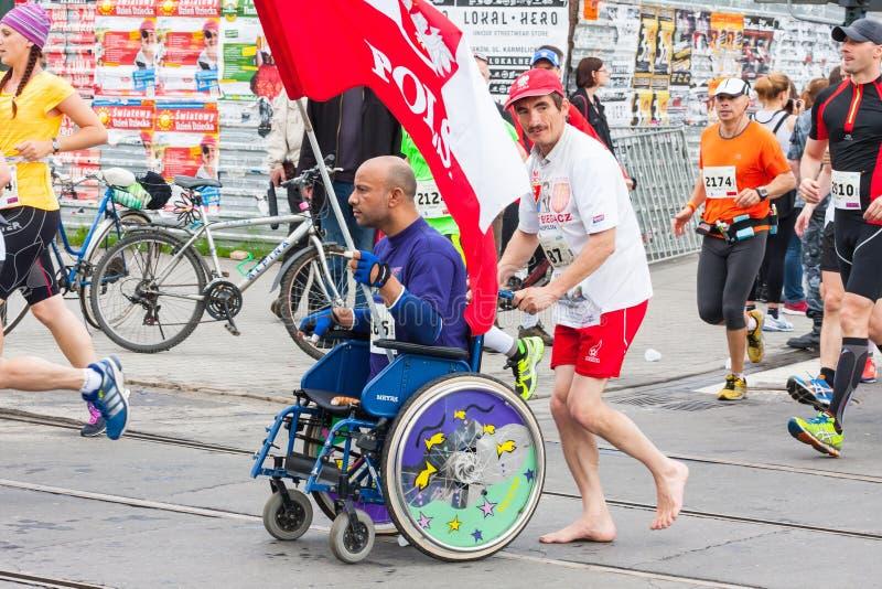 Cracovia-Marathon lizenzfreies stockbild