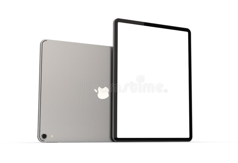 Cracovia, Polonia - 31 de noviembre de 2018: iPad favorable una nueva versión de la tableta de Apple fotografía de archivo