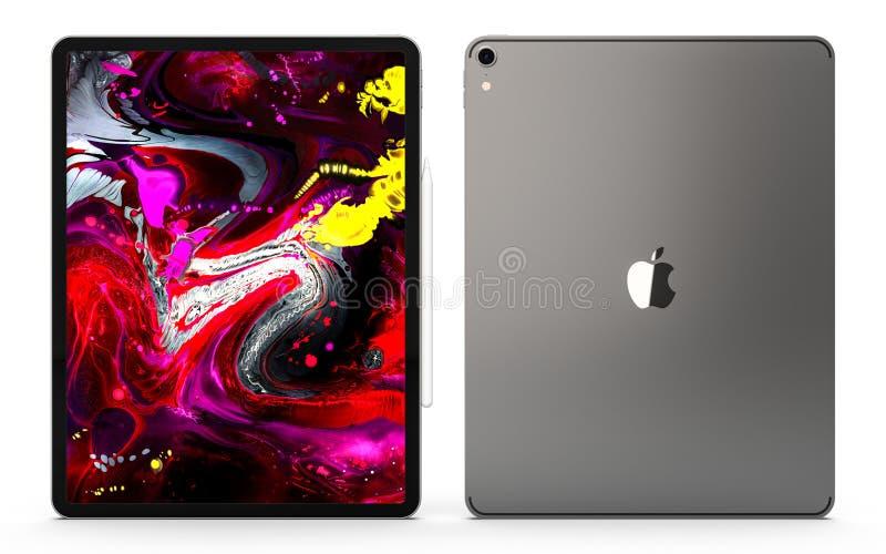Cracovia, Polonia - 31 de noviembre de 2018: iPad favorable una nueva versión de la tableta de Apple foto de archivo