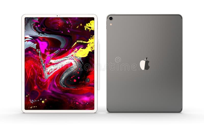Cracovia, Polonia - 31 de noviembre de 2018: iPad favorable una nueva versión de la tableta de Apple imagen de archivo