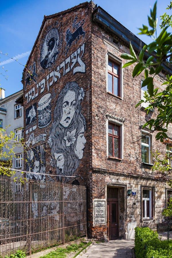 Cracovia, Polonia Kazimierz - vecchio distretto ebreo fotografia stock libera da diritti