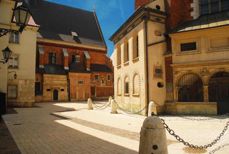 Cracovia, Polonia. Vecchio centro urbano immagine stock libera da diritti