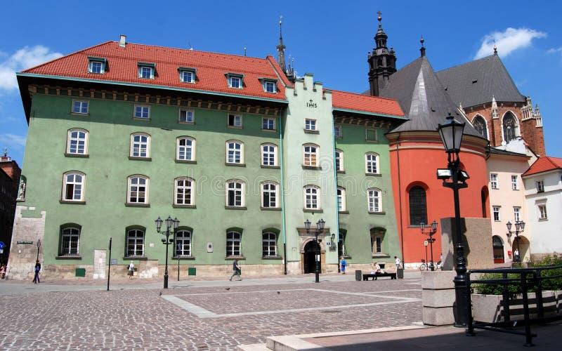 Cracovia, Polonia: Vecchio quadrato del mercato di Maly Rynek fotografie stock