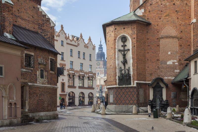 Cracovia - quadrato principale del mercato fotografia stock libera da diritti