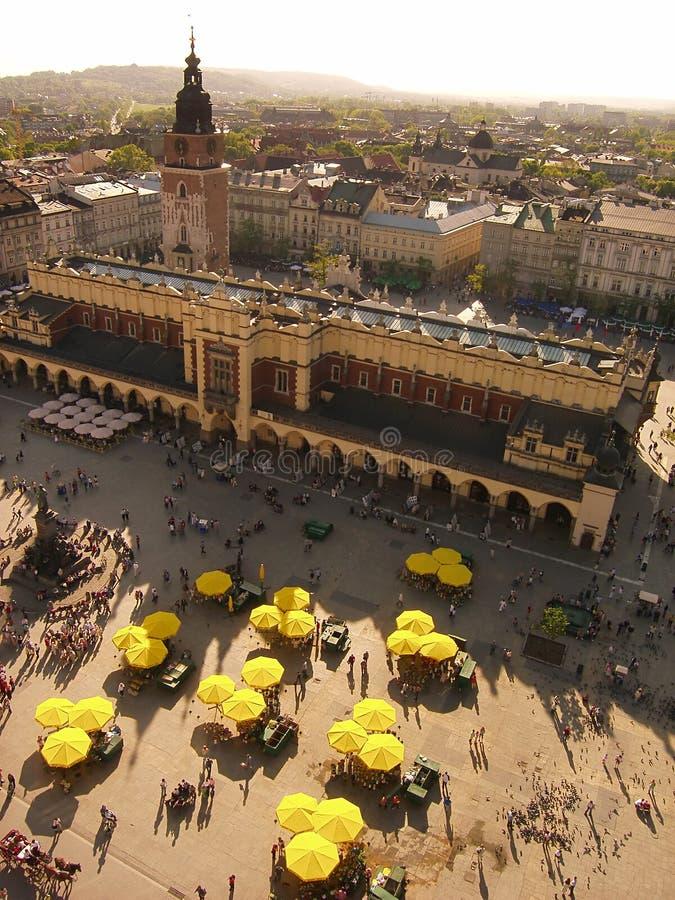 Cracovia - un mercado imágenes de archivo libres de regalías