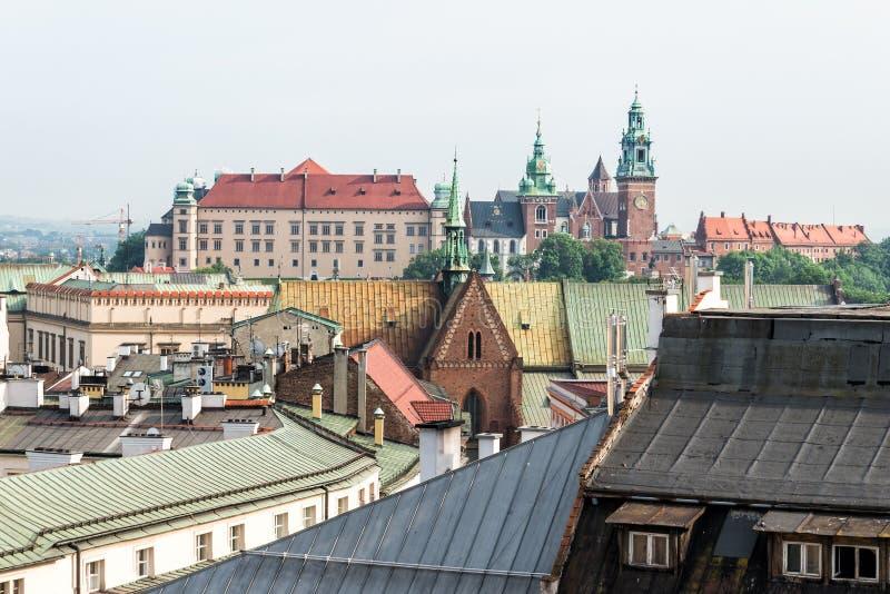 Cracovia un Wawel fotografia stock libera da diritti