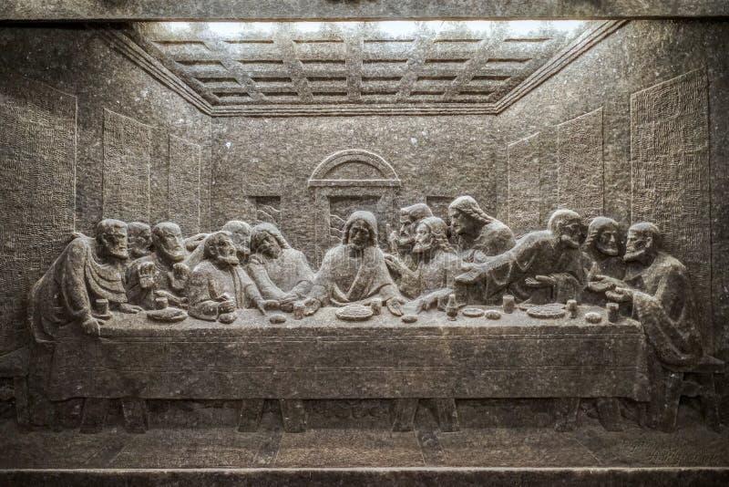 CRACOVIE, POLAND/EUROPE - 19 SEPTEMBRE : Statue le dernier dîner à image stock